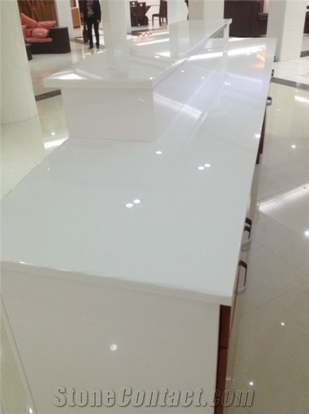 Easy Clean Super White Nano Glass Countertop for Kitchen