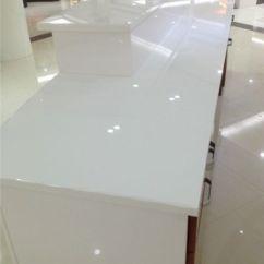 Tile For Kitchen Countertops Log Home Islands Easy Clean Super White Nano Glass Countertop ...