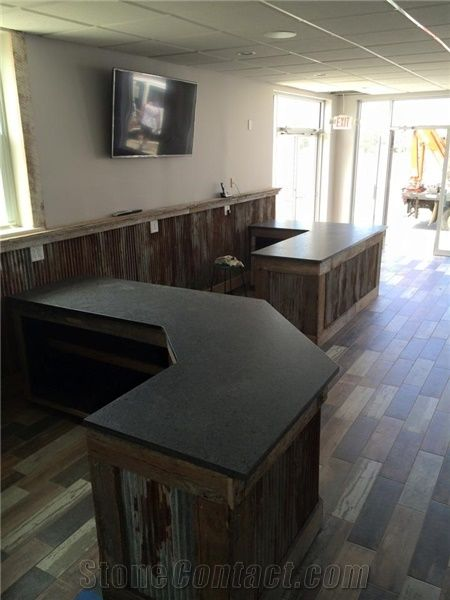 Steel Gray Granite in Leather Finish Counter from United