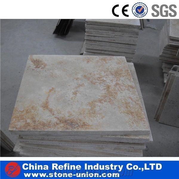 cheaper beige white travertine wall