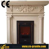 Beige Marble Fireplace,China White Marble Fireplace