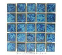 Bali Glazed Ceramic Mosaic Swimming Pool Tiles, Indonesia ...