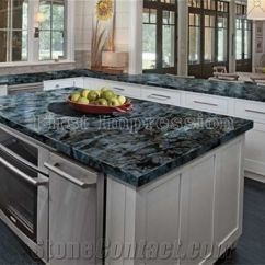 Kitchen Tops Stainless Steel Tables Luxury Labradorite Volga Blue Granite Countertops Ukraine Worktops Bar Desk Custom
