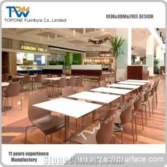 Restaurant Tables And Chairs Wholesale Grey Kitchen Chair Covers Hot Sale Factory Prices Acrylic Solid Surface Dinner Table Artificial Marble Stone Manmade Coffee