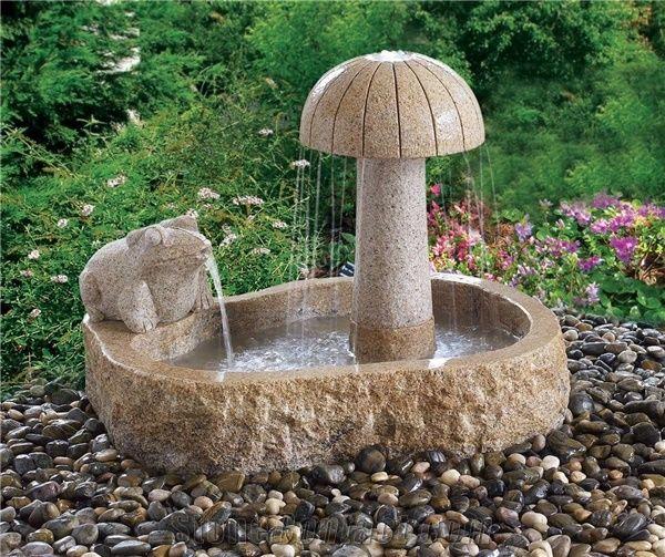 yellow granite small garden water