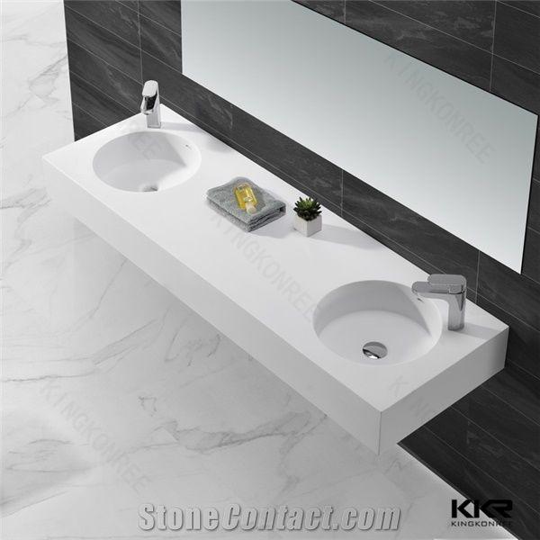 white matte rectangular solid surface