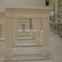 European Style Beige Sandstone Carved Fireplaces Surround ...