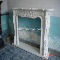 European Style White Quartzite Stone Carved Fireplaces ...