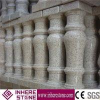 Prefabricated Balcony Yellow Stone Balustrades Handrails