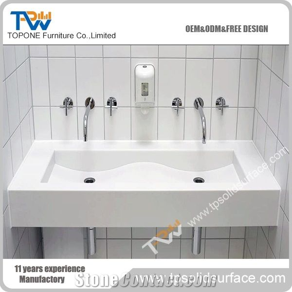 white color rectangle vanity top stone