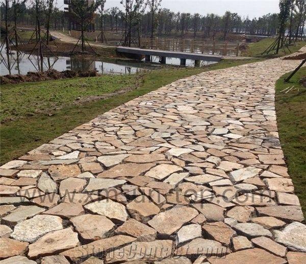 natural stone irregular flagstone patio