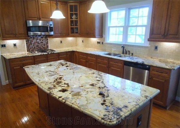 kitchen island tops cushions crystal yellow granite countertops bar top