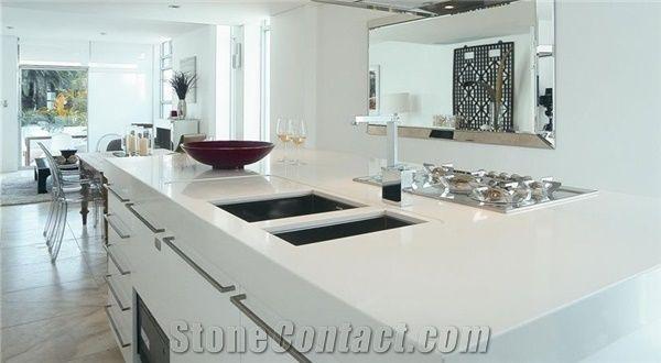 white kitchen countertops giagni fresco stainless steel 1-handle pull-down faucet pure engineered quartz bar tops stone countertop kithen island