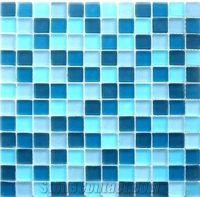 Cheaper 8mm Thickness Blue Pool Tile Glass Mosaic Tile for ...