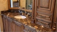 Dark Emperador Brown Marble Bathroom Countertops Design ...