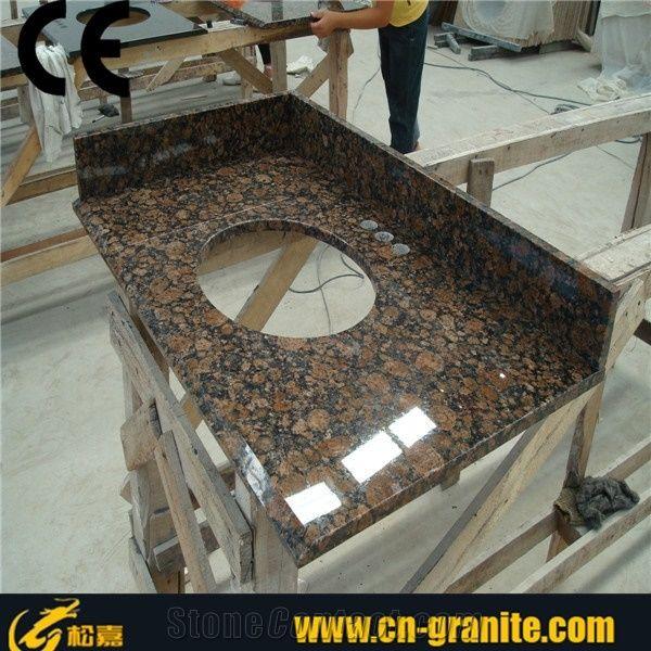 Tan Brown Granite Tops Bathroom Vanity