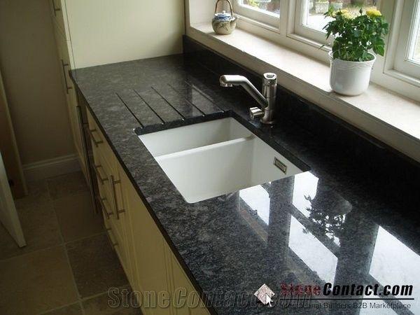 Angola Black Granite Kitchen Tops Desk Tops Bench Tops