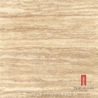 Glazed Off-White Travertine Pattern Decorative Floor ...