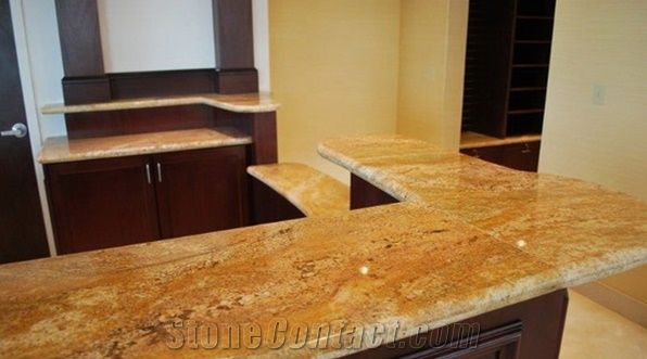 Imperial Gold Dust Granite L Shape Kitchen TopsNew