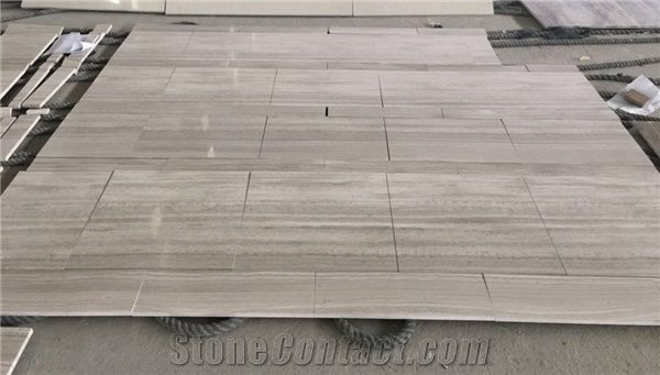 China Wooden White Marble Big Slab TileGuizhou Grey Wood
