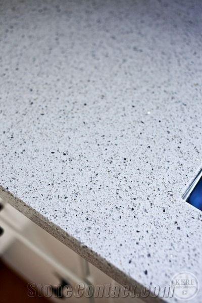 Gray Quartz with Black Spots Quartz Kitchen Surfaces