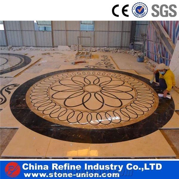 waterjet cut inlay marble inlay