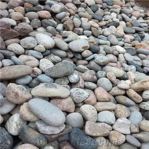multicolour pebblestone river stone