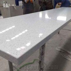 Granite Top Kitchen Table Round Islands Sparkle White Quartz Stone Countertop, Starlight ...