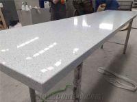 Sparkle White Quartz Stone Kitchen Countertop, Starlight ...