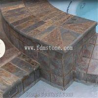 Natural Split Surface Rusty Stone Veneer Slate Non Slip ...