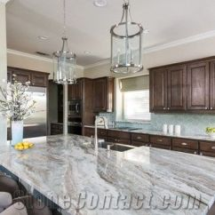 White Kitchen Island With Granite Top 60 Fantasy Brown Countertop From India - Stonecontact.com