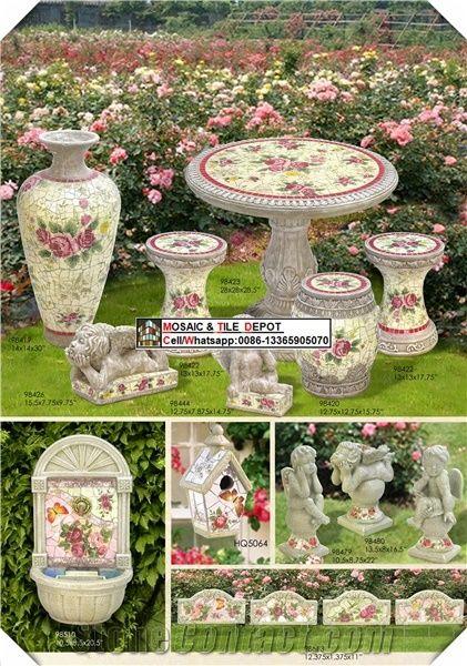 mosaic patio furniture set mosaic chair