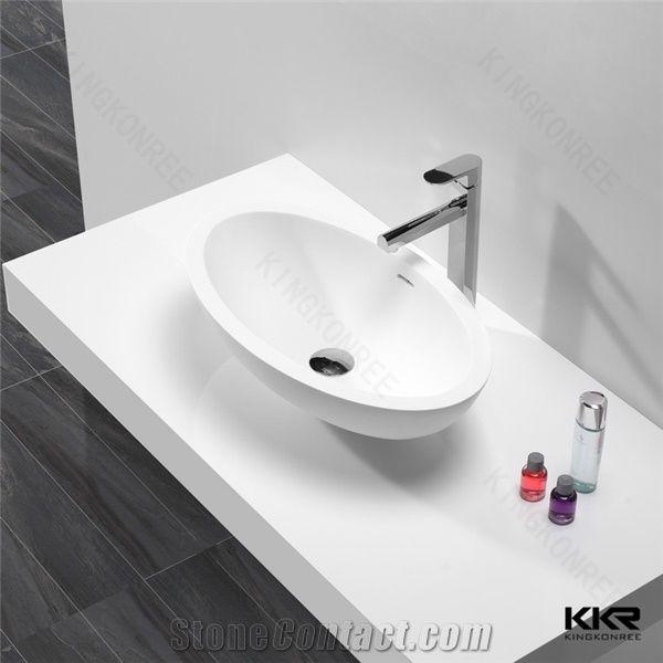 Bathroom Cabinet Vanity Wash Basin Acrylic Solid Surface Wash Hand Basin From China Stonecontact Com