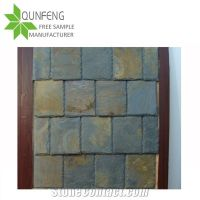 Rectangular Rusty Slate Roof Tiles for Wall Covering ...