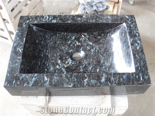 blue peal granite basins rectangle