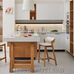 Kitchen Benches Cheap Rooster Decor For And Backsplashes In Composite Stone Noble Carrara
