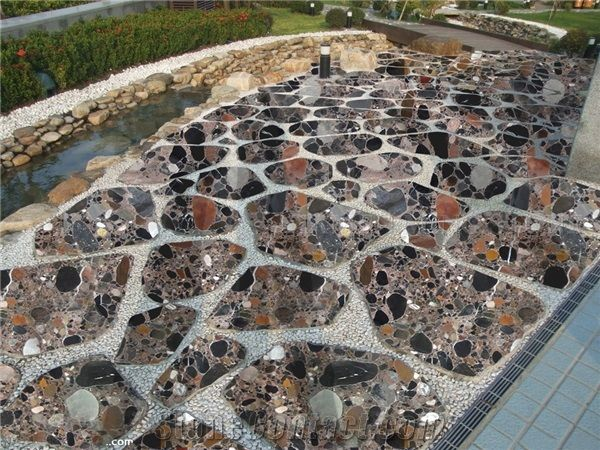 colorful stone granite landscaping
