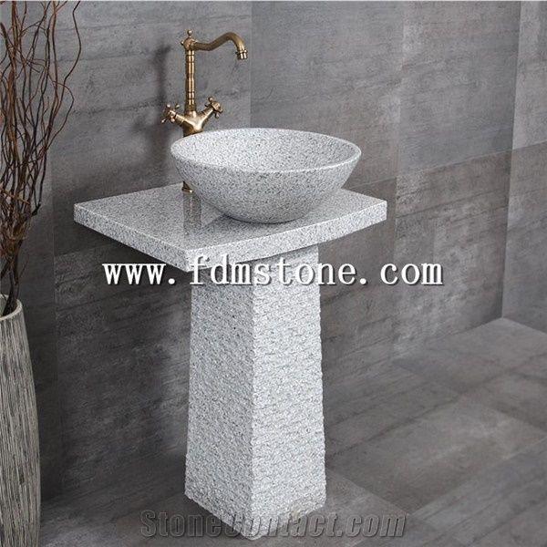 cheap grey stone pedestal sink free