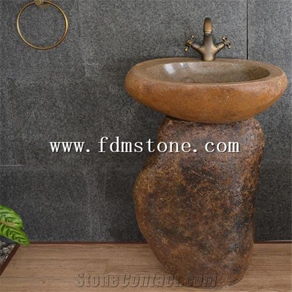 outdoor garden natural stone sink free