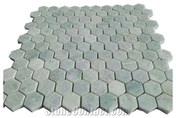 green stone tile marble mosaic