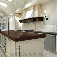 Quartz Kitchen Countertops Grape Decorations For Crystal Dark Brown Surface Stone Tops Island Worktop