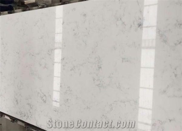 Artificial Bianco Carrara WhiteQuartz Stone Slabs for