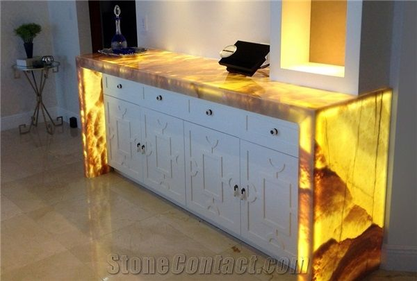 handmade kitchen islands home depot canada faucets artificial honey onyx translucent backlit ...