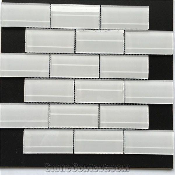 mix crackle glass mosaic tile garden