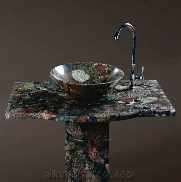 colorful granite sinks basins polished