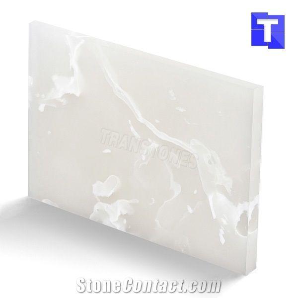 artificial onice milk white onyx slabs