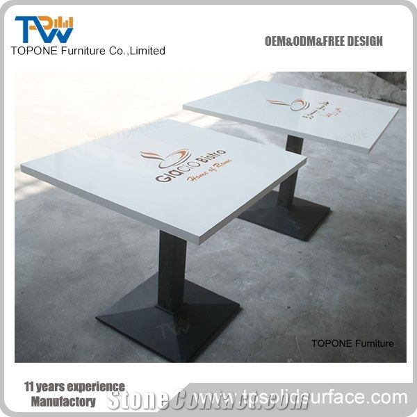 white square acrylic solid surface