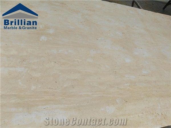 cream light travertine tiles slabs