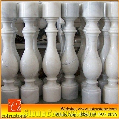 Hot Sale White Marble Baluster Guangxi White Stair Handrail China | Stair Rails For Sale | Metal | Cheap | Stainless | Minimalist | Hand