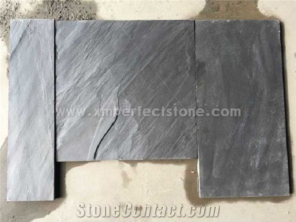 slate floor kitchen pull out faucet black tiles 600 300 laminate flooring stone wall natural uk